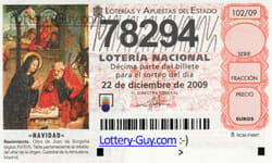 El Gordo Tickets 2009