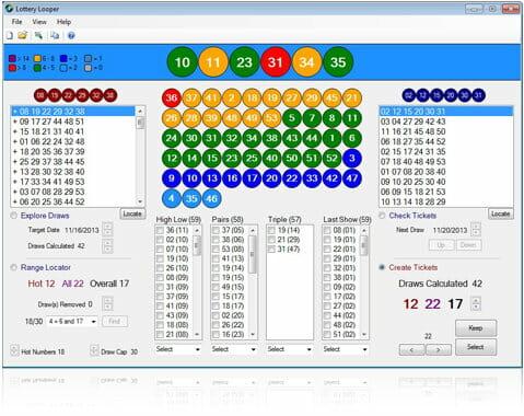Main Lottery Looper Screen